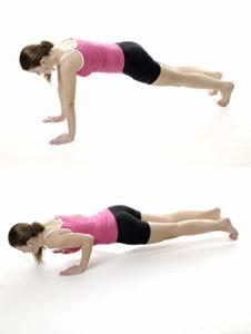 Enge Liegestütze - eine Bodyweight Übung vor allem für den Trizeps (Oberarmrückseite).